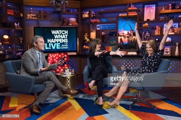 Andy Cohen Sally Field and Katie Couric