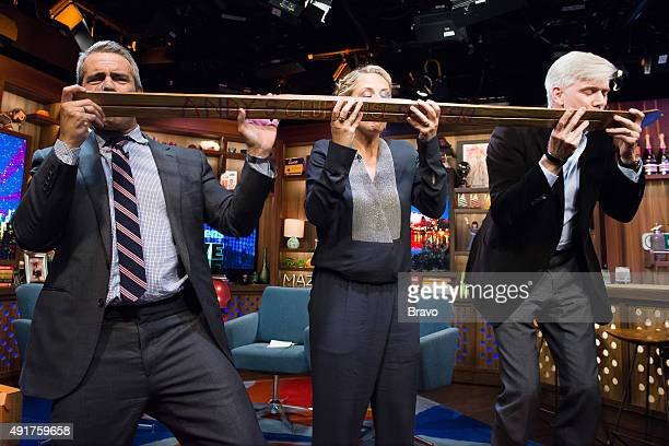 Andy Cohen Sarah Michelle Gellar and David Gregory