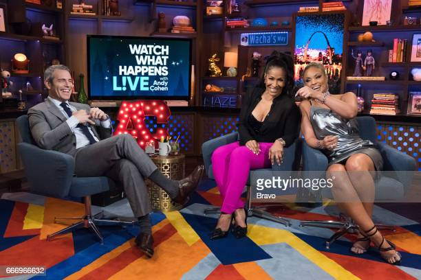 Andy Cohen Sheree Whitfield and Gizelle Bryant