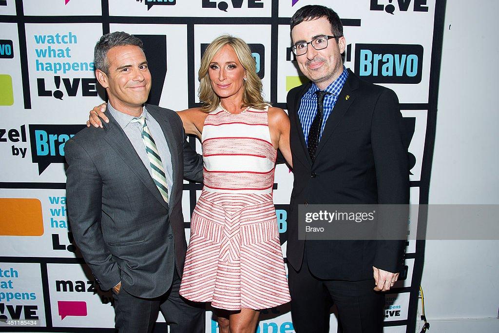 Andy Cohen, Sonja Morgan and John Oliver --