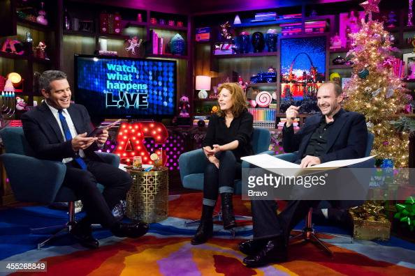 Andy Cohen Susan Sarandon and Ralph Fiennes Photo by Charles Sykes/Bravo/NBCU Photo Bank via Getty Images