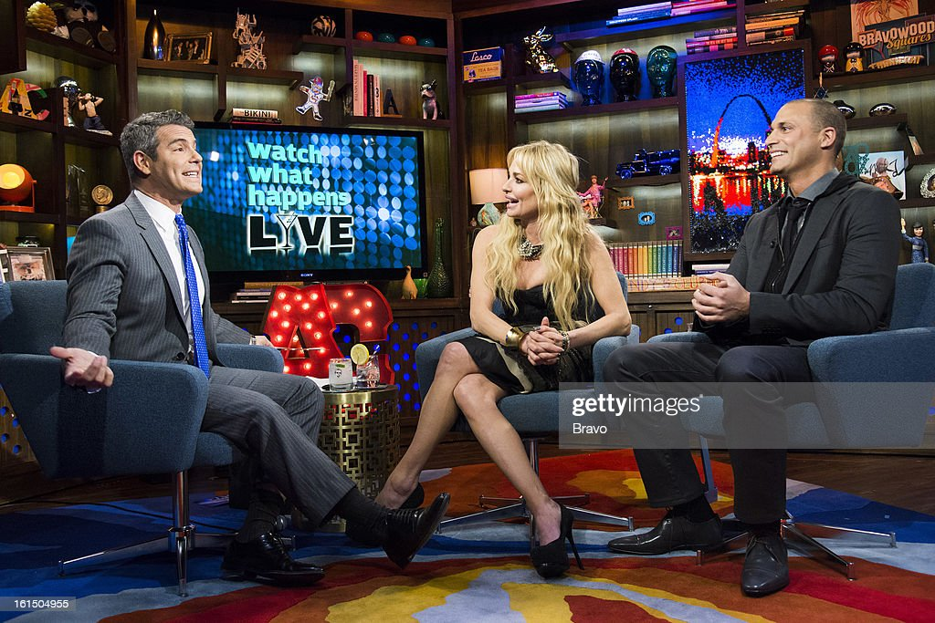 Andy Cohen, Taylor Armstrong and Nigel Barker -- Photo by: Charles Sykes/Bravo/NBCU Photo Bank via Getty Images