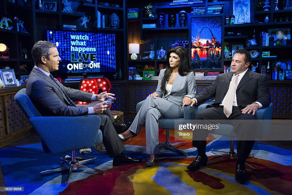 Andy Cohen, Teresa Giudice and Joe Giudice -- Photo by: Charles Sykes/Bravo/NBCU Photo Bank via Getty Images