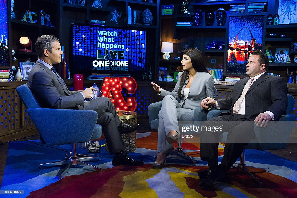 Andy Cohen, <a gi-track='captionPersonalityLinkClicked' href=/galleries/search?phrase=Teresa+Giudice&family=editorial&specificpeople=5912953 ng-click='$event.stopPropagation()'>Teresa Giudice</a> and <a gi-track='captionPersonalityLinkClicked' href=/galleries/search?phrase=Joe+Giudice&family=editorial&specificpeople=5978109 ng-click='$event.stopPropagation()'>Joe Giudice</a> -- Photo by: Charles Sykes/Bravo/NBCU Photo Bank via Getty Images