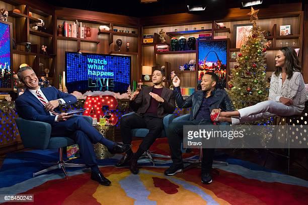 Andy Cohen Trevor Noah John Legend and Chrissy Teigen