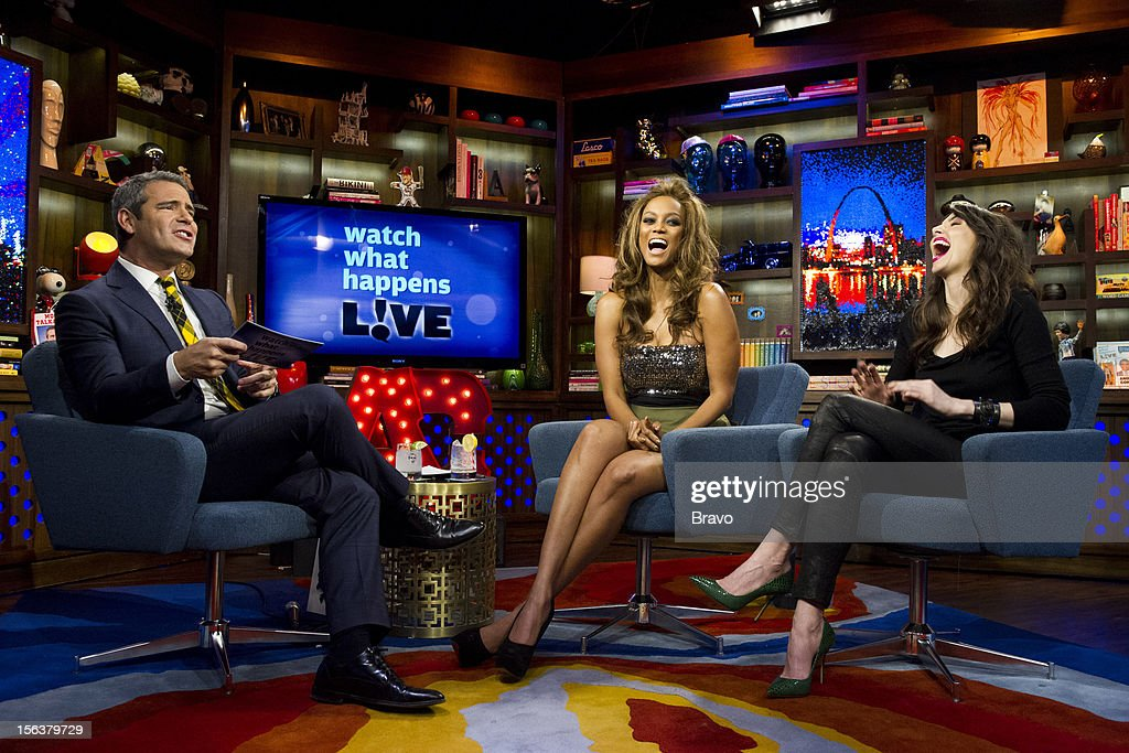 Andy Cohen, Tyra Banks, Whitney Cummings -- Photo by: Charles Sykes/Bravo/NBCU Photo Bank via Getty Images