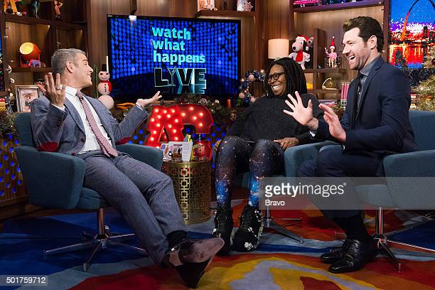 Andy Cohen Whoopi Goldberg and Billy Eichner