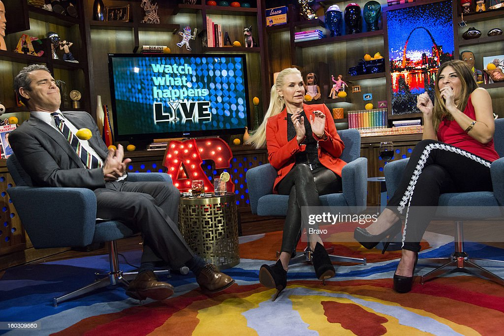 Andy Cohen, Yolanda Foster and Callie Thorne -- Photo by: Charles Sykes/Bravo/NBCU Photo Bank via Getty Images