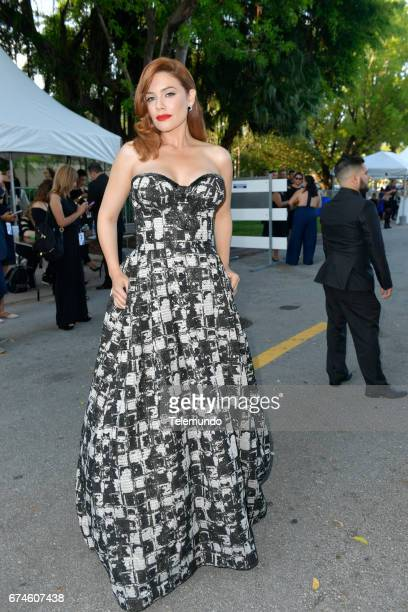 Angelica Celaya on the Red Carpet at the Watsco Center in the University of Miami Coral Gables Florida on April 27 2017