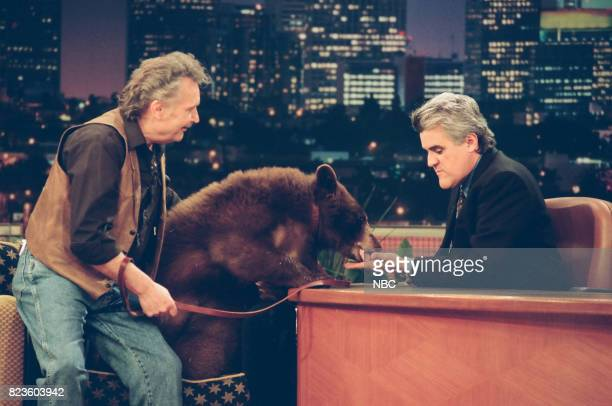 Animal specialist Bill Porter during an interview with host Jay Leno on February 26 1999