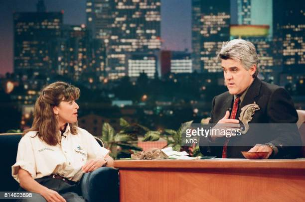 Animal specialist Julie Scardina during an interview with host Jay Leno on May 1 1998