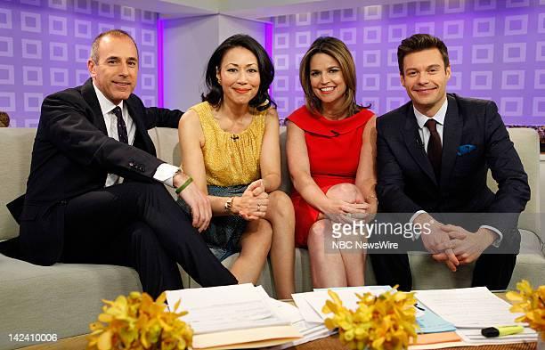 Ann Curry Matt Lauer Savannah Guthrie and Ryan Seacrest appear on NBC News' 'Today' show