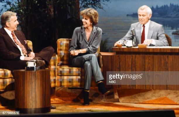 Announcer Ed McMahon actress/comedian Carol Burnett host Johnny Carson on August 10 1979
