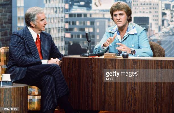 Announcer Ed McMahon during an interview with guest Host Don Meredith on May 7th 1975