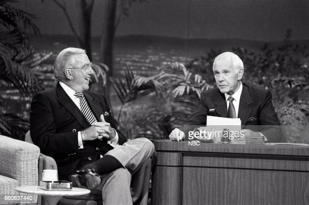 Announcer Ed McMahon during an interview with guest host Johnny Carson on July 17 1991