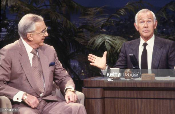 Announcer Ed McMahon during an interview with Host Johnny Carson on September 17th 1987