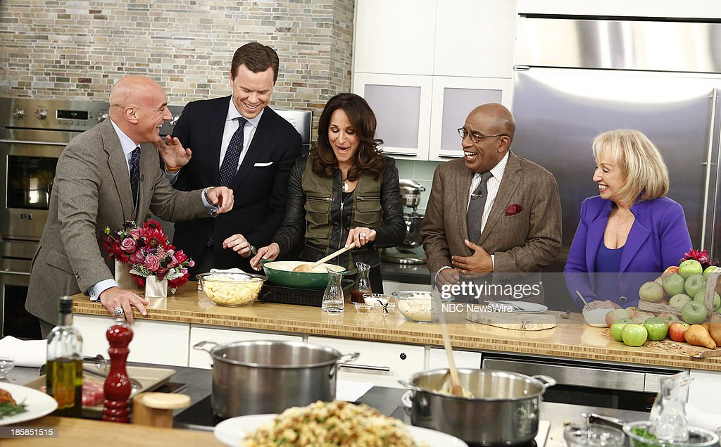 Anthony Scotto, Willie Geist, Elaina Scotto, <a gi-track='captionPersonalityLinkClicked' href=/galleries/search?phrase=Al+Roker&family=editorial&specificpeople=206153 ng-click='$event.stopPropagation()'>Al Roker</a> and Marion Scotto appear on NBC News' 'Today' show --