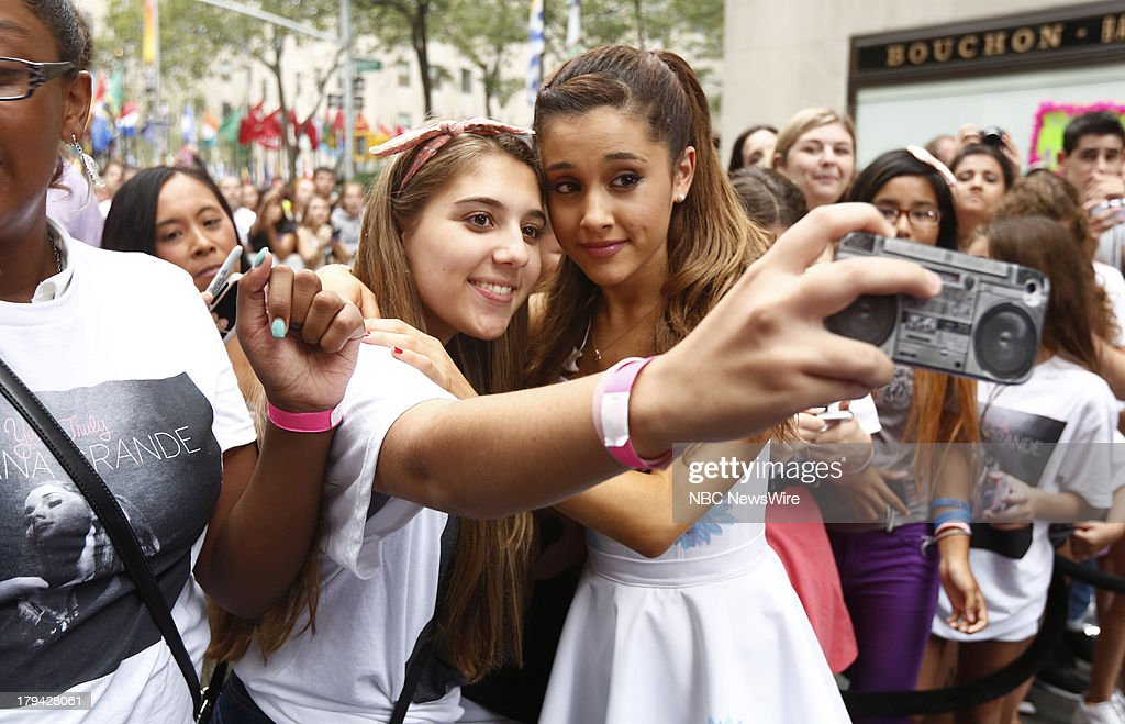 <a gi-track='captionPersonalityLinkClicked' href=/galleries/search?phrase=Ariana+Grande&family=editorial&specificpeople=5586219 ng-click='$event.stopPropagation()'>Ariana Grande</a> appears on NBC News' 'Today' show --