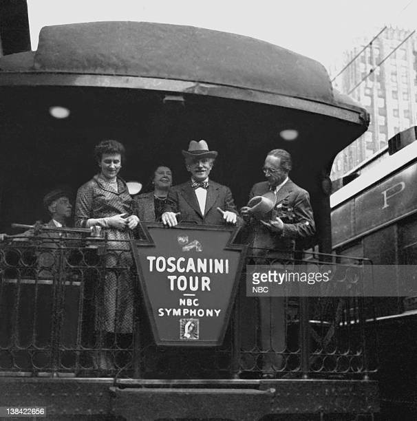 Arturo Toscanini toured with the NBC Symphony as the conductor