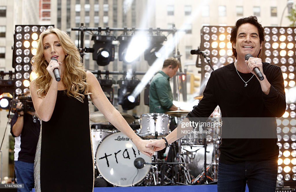 Ashley Monroe and Pat Monahan of the music group Train appear on NBC News' 'Today' show --