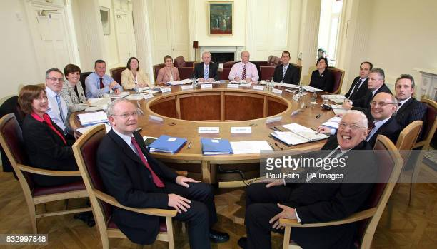 IMAGE Pictured at the first meeting of the Northern Ireland Executiveat Stormont Castle are First Minister Rt Hon Ian Paisley MP MLA deputy First...