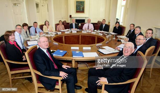 Pictured at the first meeting of the Northern Ireland Executiveat Stormont Castle are First Minister Rt Hon Ian Paisley MP MLA deputy First Minister...