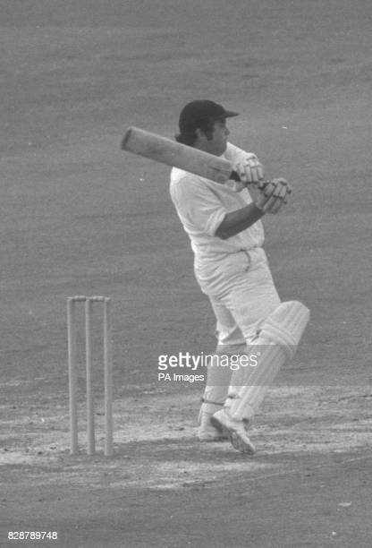 Pictured at the wicket is David Nicholls of Kent County Cricket Club who meet Lancashire in the Gillette Cup Final at Lord's Nicholls a left handed...