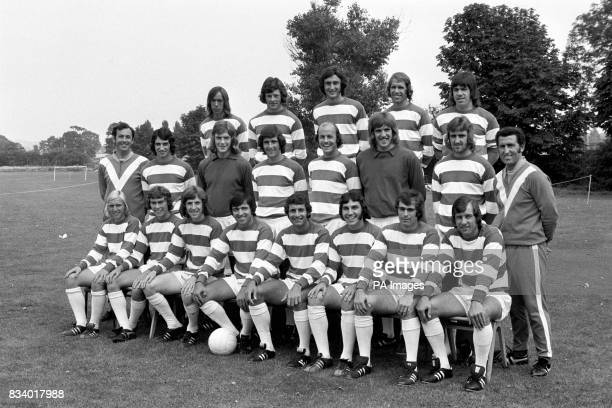 Pictured at their South Ruislip training ground First team members left to right back row John Beck Ian Gillard Ian Evans Mike Leach and Tony Hazell...