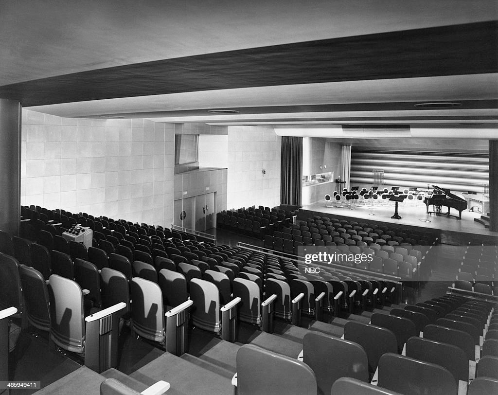 Audience view of stage in Studio 6B at NBC Studios Radio City located at Rockefeller Center, New York, NY in 1942 --