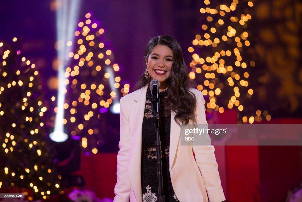 Auli'i Cravalho rehearses for the 2017 Christmas in Rockefeller Center --