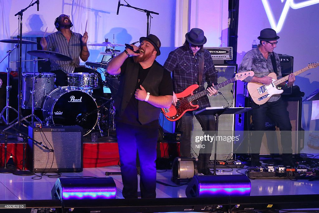 Austin Jencke performs at a special live performance event celebrating the top 12 artists of NBC's Emmy award winning hit 'The Voice' at Boulevard 3 in Hollywood, CA. 'The Voice' live shows continue on Monday, November 11th at 8 p.m. ET --