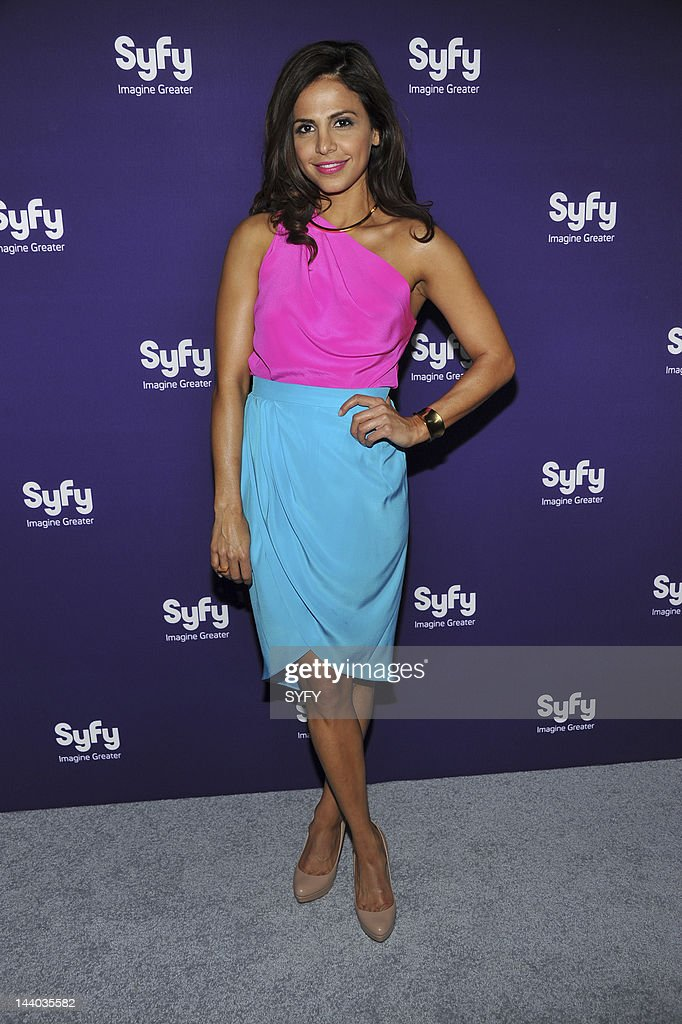 Azita Ghanizada arrives at 'Syfy Upfront 2012 at the American Museum of Natural History in New York City on April 24, 2012' --