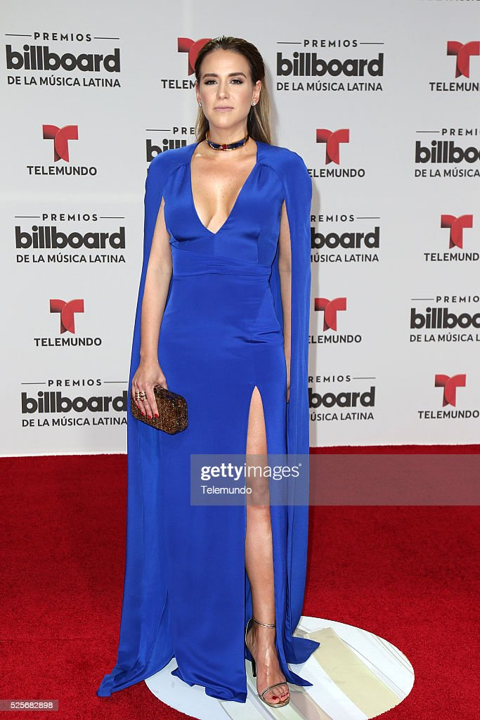 Azucena Cierco arrives at the 2016 Billboard Latin Music Awards at the BankUnited Center in Miami, Florida on April 28, 2016 --