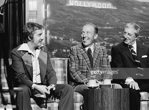 Bandleader Doc Severinsen actor/singer Bing Crosby actor/singer/dancer Ray Bolger host Johnny Carson on March 5 1976