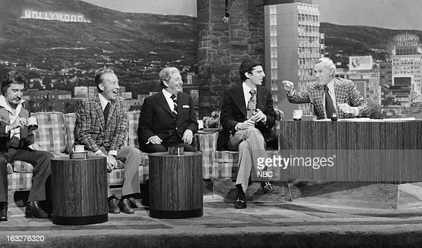 Bandleader Doc Severinsen actor/singer Bing Crosby actor/singer/dancer Ray Bolger composer Marvin Hamlisch host Johnny Carson on March 5 1976