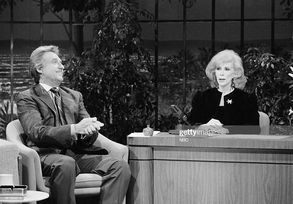 Bandleader Doc Severinsen, guest host Joan Rivers on September 28, 1983 --