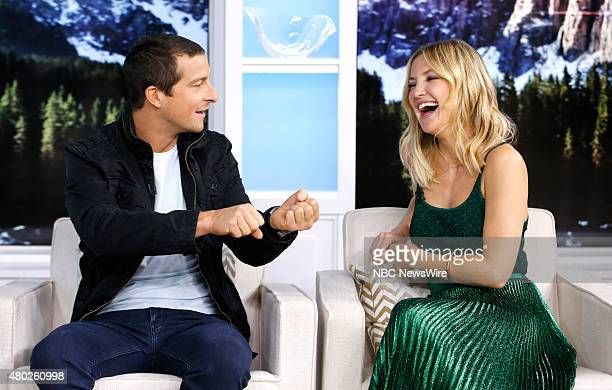Bear Grylls and Kate Hudson appear on NBC News' 'Today' show