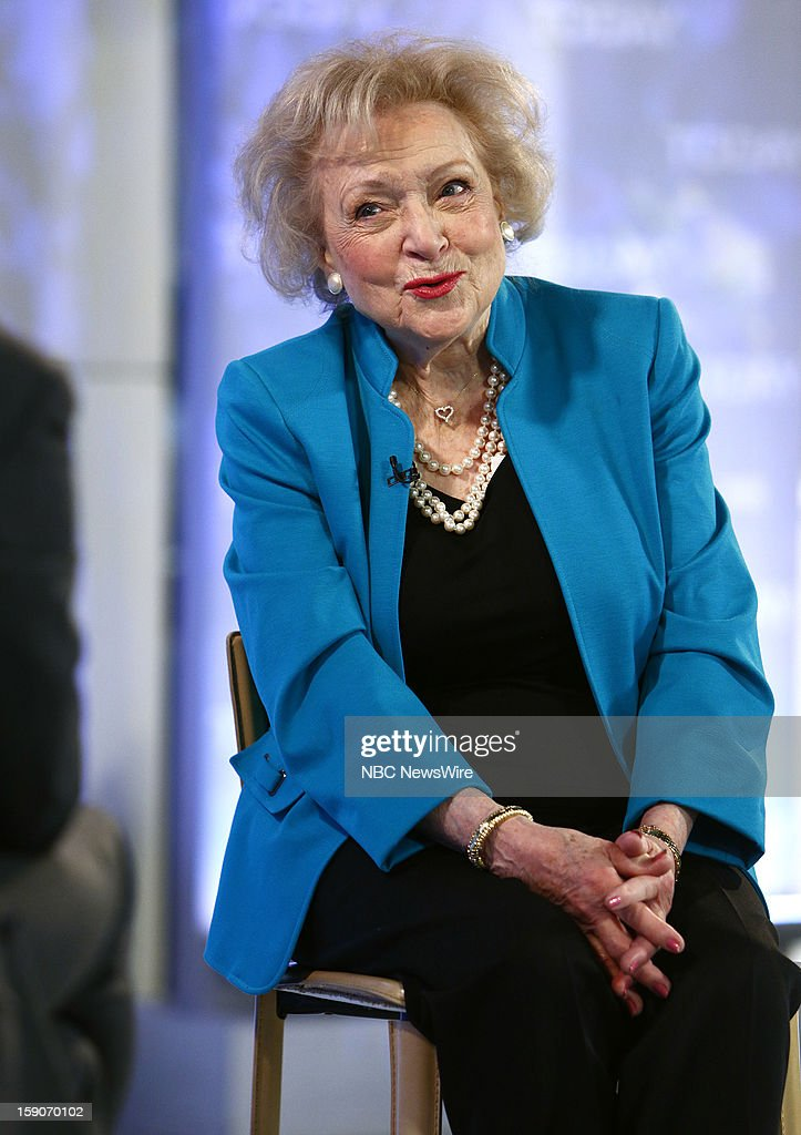 Betty White appears on NBC News' 'Today' show --