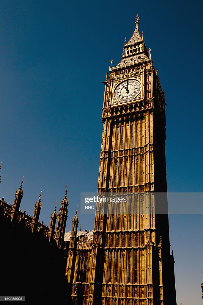Big Ben during the 2012 Summer Olympics held in London, England from July 27 - August 12, 2012 --