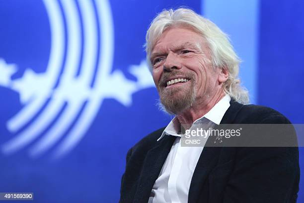 Billionaire entrepreneur Sir Richard Branson founder of Virgin Group speaks at the Clinton Global Initiative Annual Meeting in New York City on...