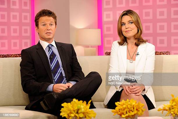 Billy Bush and Savannah Guthrie appear on NBC News' 'Today' show