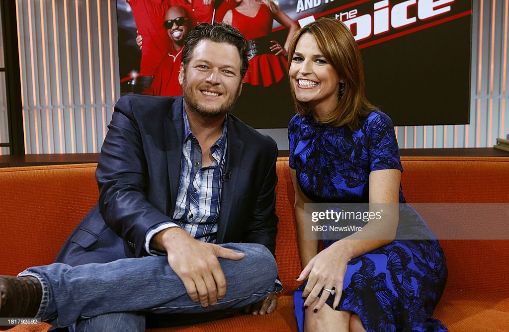 Blake Shelton and Savannah Guthrie appear on NBC News' 'Today' show --