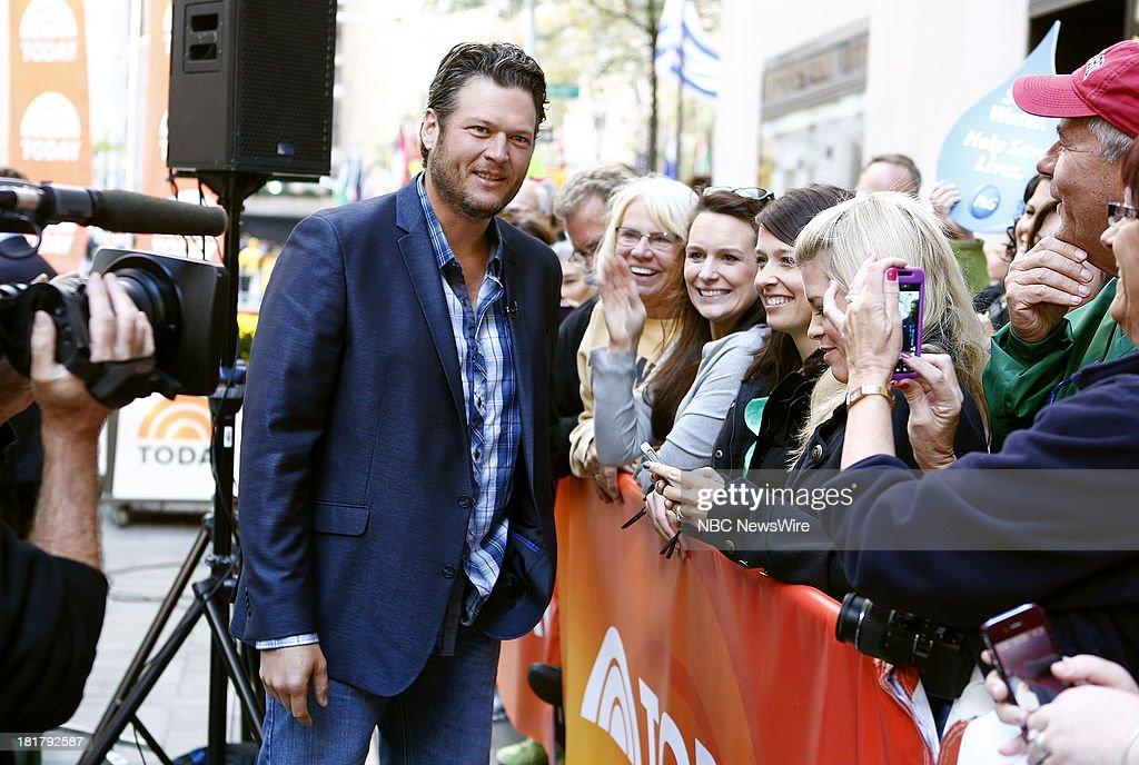 Blake Shelton appears on NBC News' 'Today' show --
