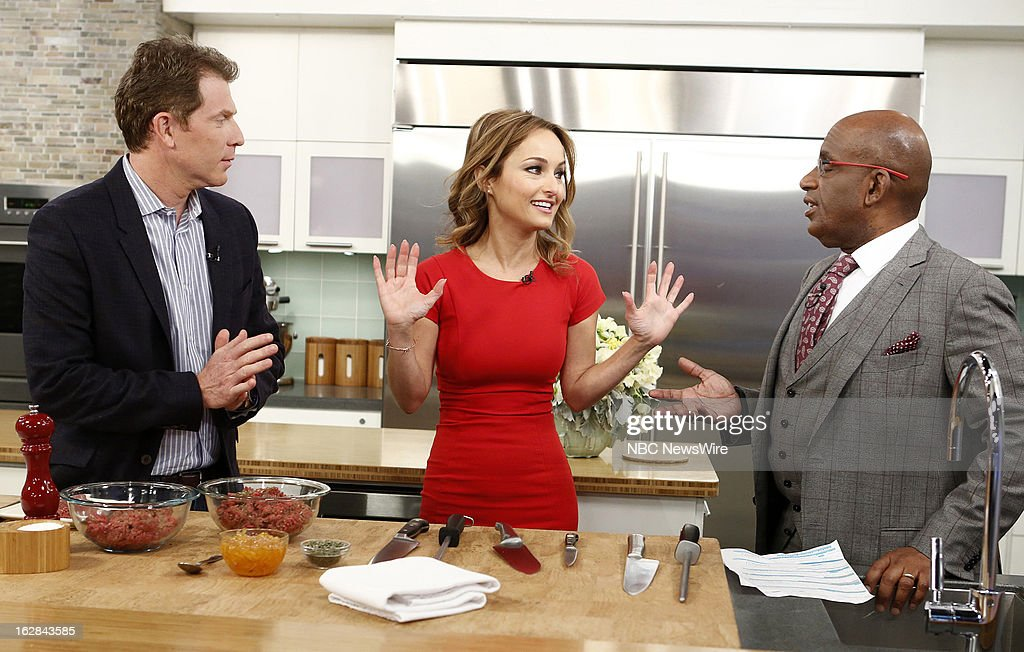 <a gi-track='captionPersonalityLinkClicked' href=/galleries/search?phrase=Bobby+Flay&family=editorial&specificpeople=220554 ng-click='$event.stopPropagation()'>Bobby Flay</a>, Giada de Laurentiis and NBC News' <a gi-track='captionPersonalityLinkClicked' href=/galleries/search?phrase=Al+Roker&family=editorial&specificpeople=206153 ng-click='$event.stopPropagation()'>Al Roker</a> appear on NBC News' 'Today' show on February 28, 2013 --