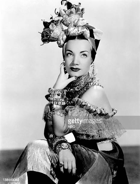 Brazilian singer/actress Carmen Miranda Photo by Bruno of Hollywood /NBC/NBCU Photo Bank via Getty Images