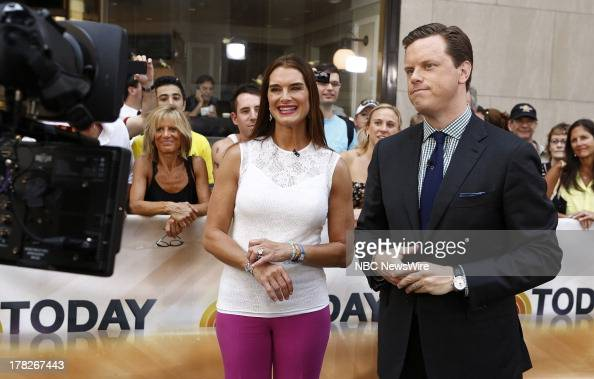 Brooke Shields and Willie Geist appear on NBC News' 'Today' show