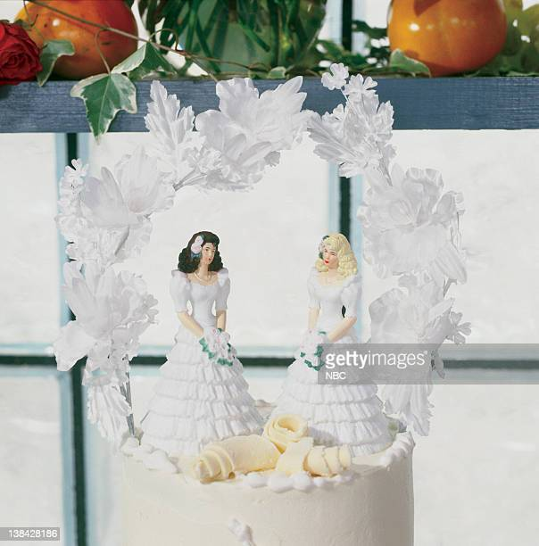 Cake topper from 'The One With the Lesbian Wedding'