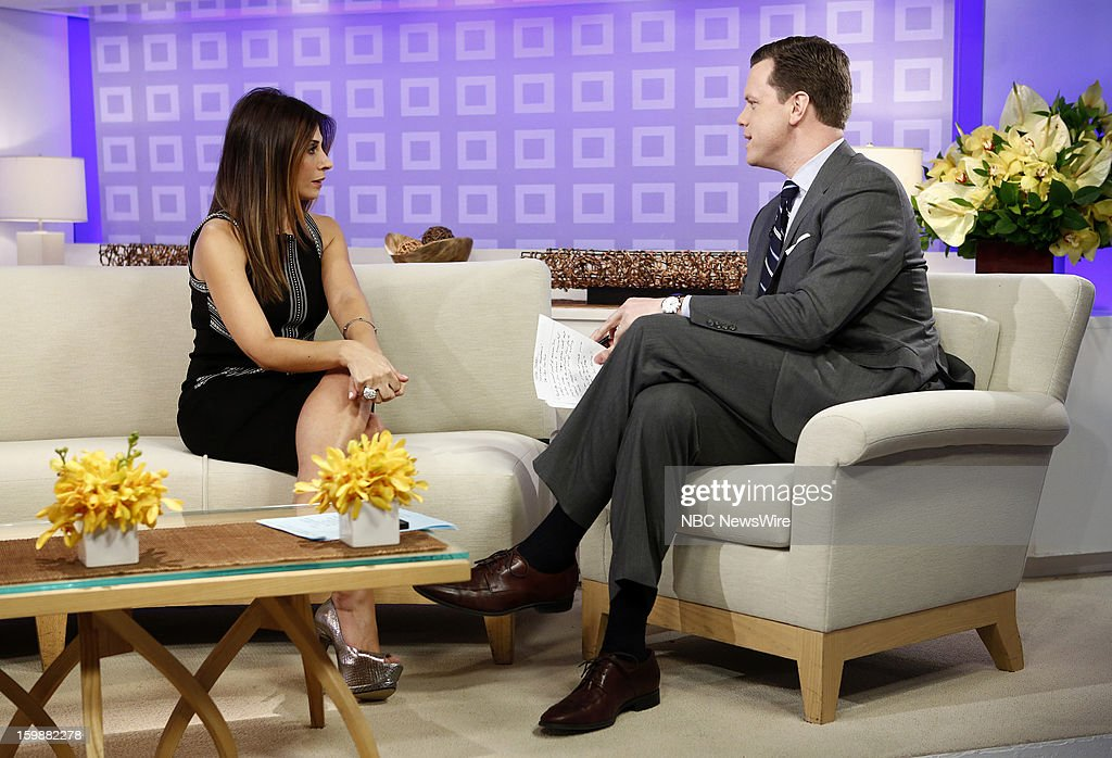 Callie Thorne and Willie Geist appear on NBC News' 'Today' show --