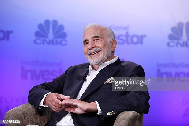 Carl Icahn Icahn Enterprises Chairman during his keynote at the 6th annual CNBC Institutional Investor Delivering Alpha Conference on Tuesday...