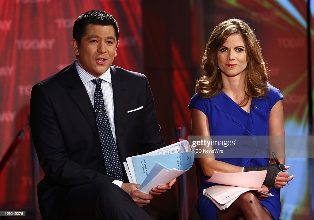Carl Quintanilla and Natalie Morales appear on NBC News' 'Today' show --